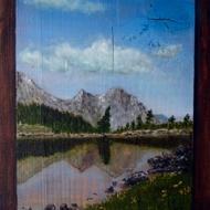 Fresco laghetto montano