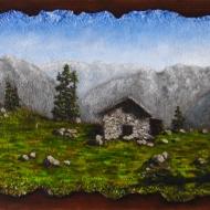La serenità della montagna 30 x 60 cm