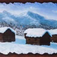 Baite tra la neve 71 x 34 cm