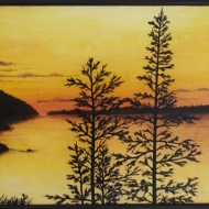 La luce del lago 70 x 50 cm